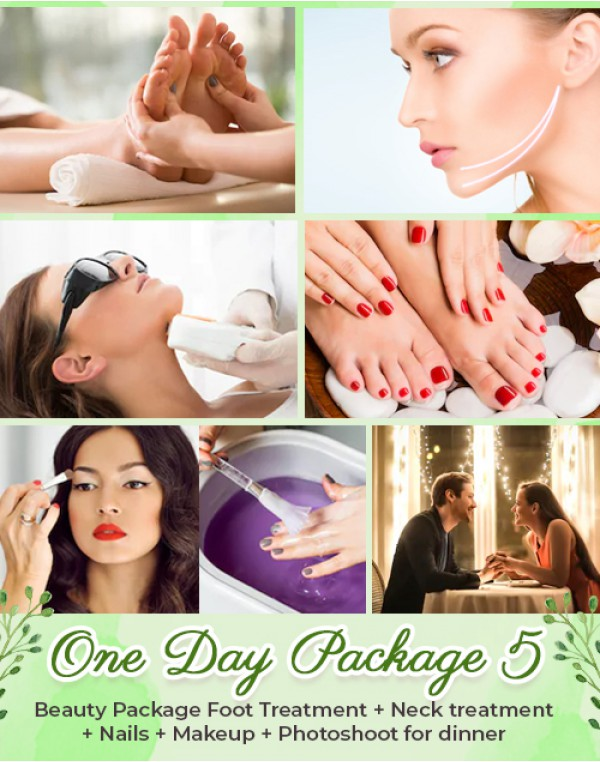 (Package 5) ONE DAY Beauty Package